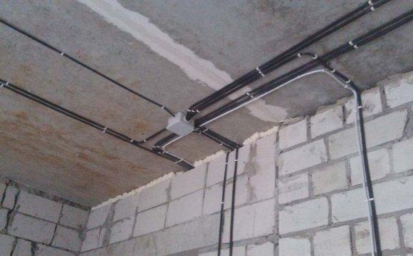 Пример монтажа электропровода