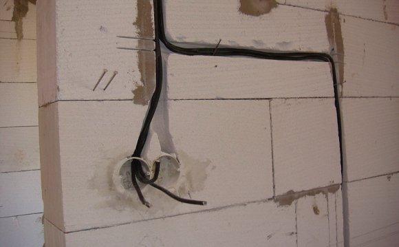 Разводка электрики закрытым