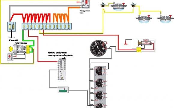 схемы электропроводки уаз
