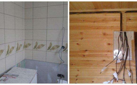 Монтаж электропроводки в стене